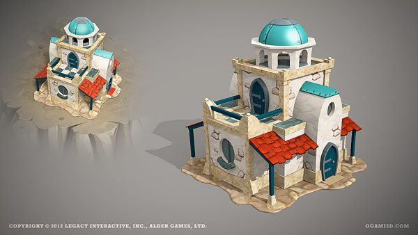 Legends of Atlantis Exodus - ingame 3D models by Ogami 3D, via Behance