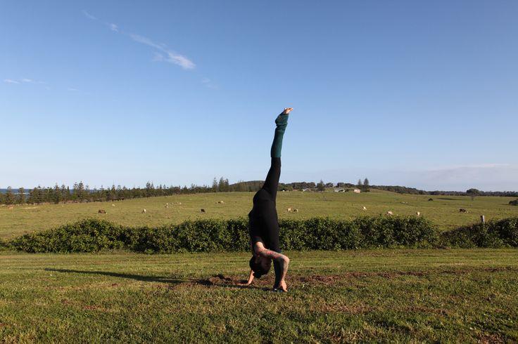 Country side yoga #yoga #splits #inspiration