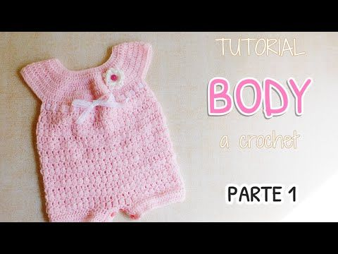 Como tejer un body, enterito a crochet (1/2)
