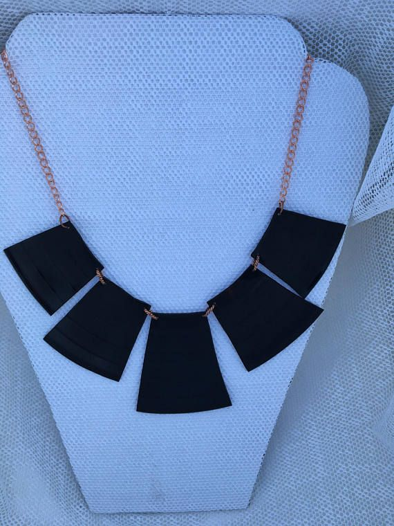 Re-purposed vinyl record album necklace
