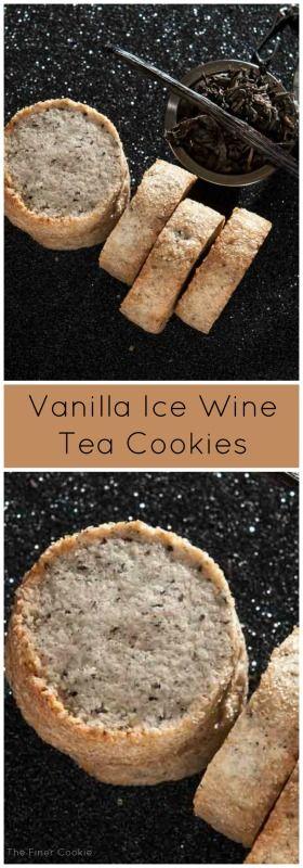 #cookies #shortbread #Vanilla #icewine #tea