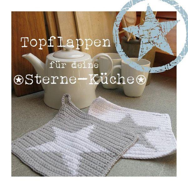 Häkelanleitungen - eBook STERN TOPFLAPPEN - ein Designerstück von ...