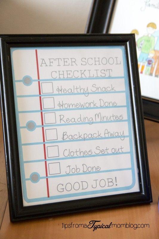 Dicas para a organização de volta às aulas {para manter os pais saudáveis   – School