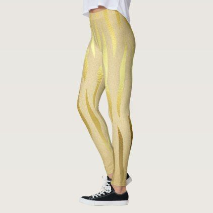 Gold zebra print dress leggings - fancy gifts cool gift ideas unique special diy customize