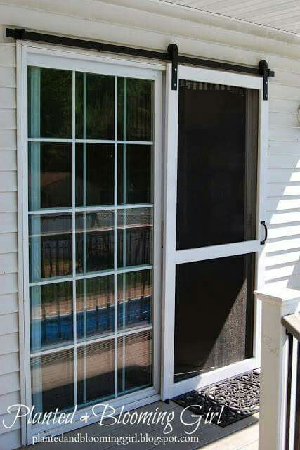 Barn screen door diy house pinterest doors honey for Barn door screen door