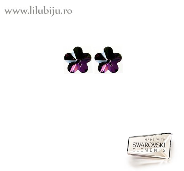 Cercei Swarovski Elements™ - Flori Lilac Shadow by LiluBiju (copyright) http://www.lilubiju.ro/ocart/index.php?route=product/product&path=20_26&product_id=455