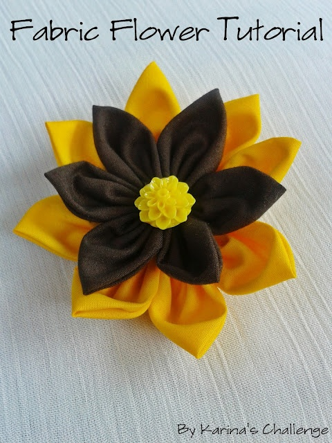 Easy fabric #flower #tutorial!