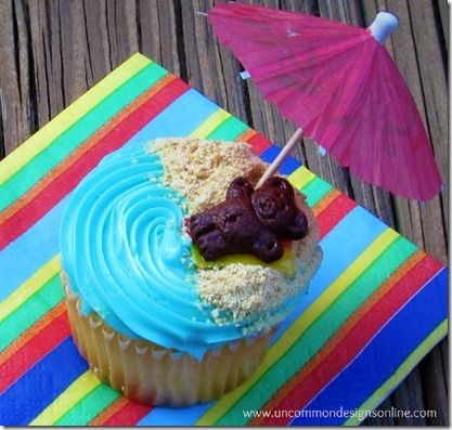 Easy Beach Cupcakes Luau Party Food Ideas - Good Recipes Online