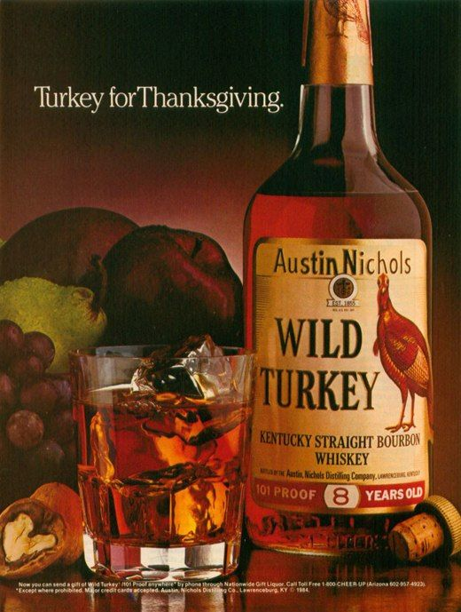 1984 A History of Print Ads from Wild Turkey Bourbon