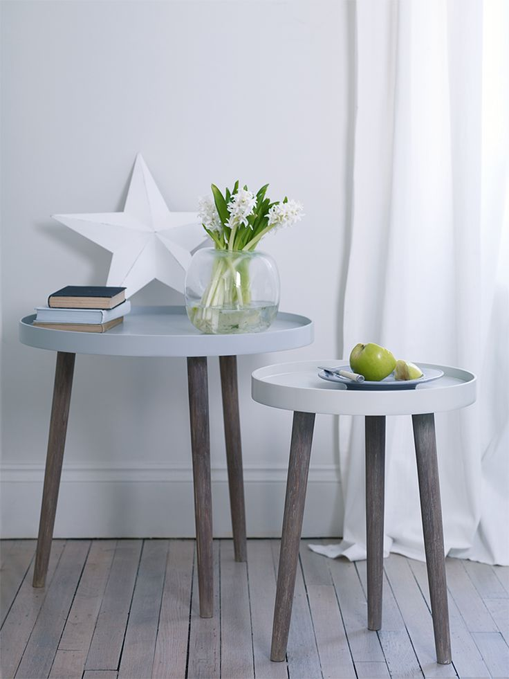Lina Side Tables- Grey