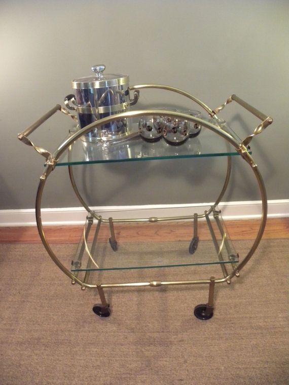 Vintage Deco Style Mid Century Bar Cart Mint Condition And Rare