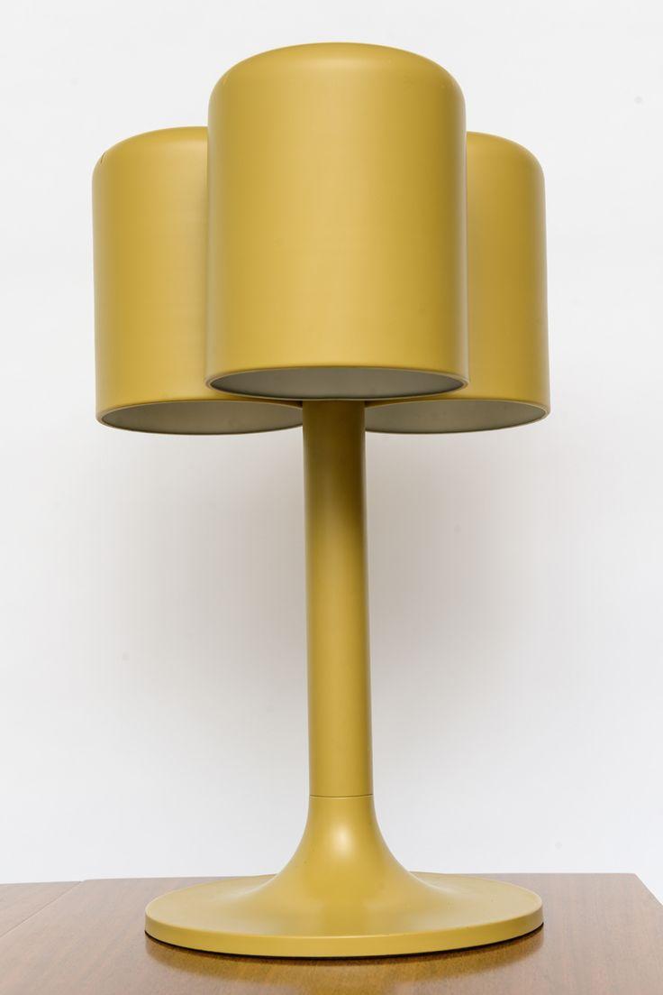 Walter Von Nessen; Enameled Metal Table Lamp | Yellow | Walter Von Nessen | 1960s.