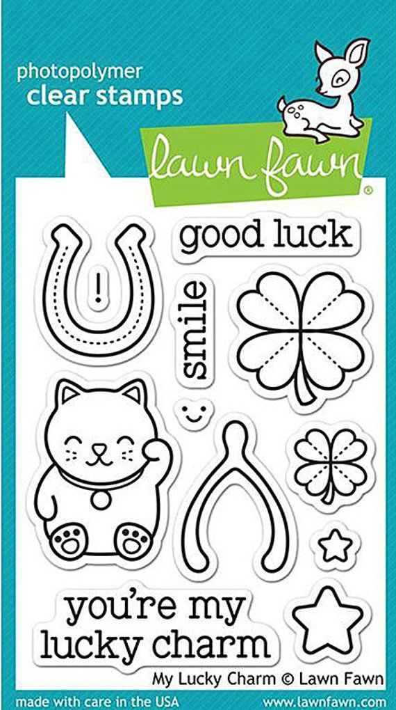 Horseshoe Lucky Rubber Stamp for Stamping Crafting Planners 3//4 Inch Small