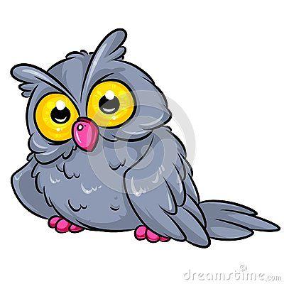 Owl cartoon illustration  isolated image animal character