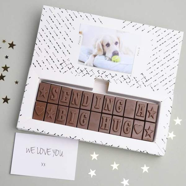 Chocolate Hug By Post In 2020 Cheer Up Gifts Cheer Someone Up Hugs Chocolate