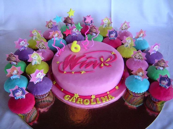Bolo Winx - Bolo e CupCakes - 6º aniversário da Carolina