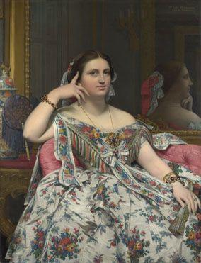 Jean-Auguste-Dominique Ingres: 'Madame Moitessier'.  Room 41.