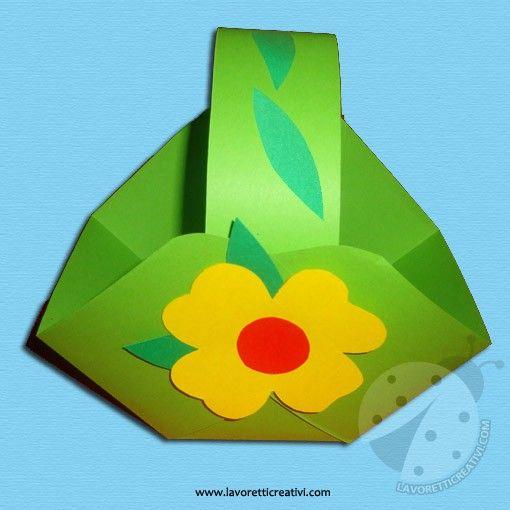 Cestino pasquale da realizzare con i cartoncini colorati per la Festa di Pasqua. Vediamo ora nel dettaglio il materiale e i passaggi da eseguire. LAVORET