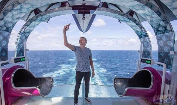 فرانسيس يحصل على خبير إنستغرام في أكبر سفينة Biggest Cruise Ship Cruise Ship Disneyland Cruise
