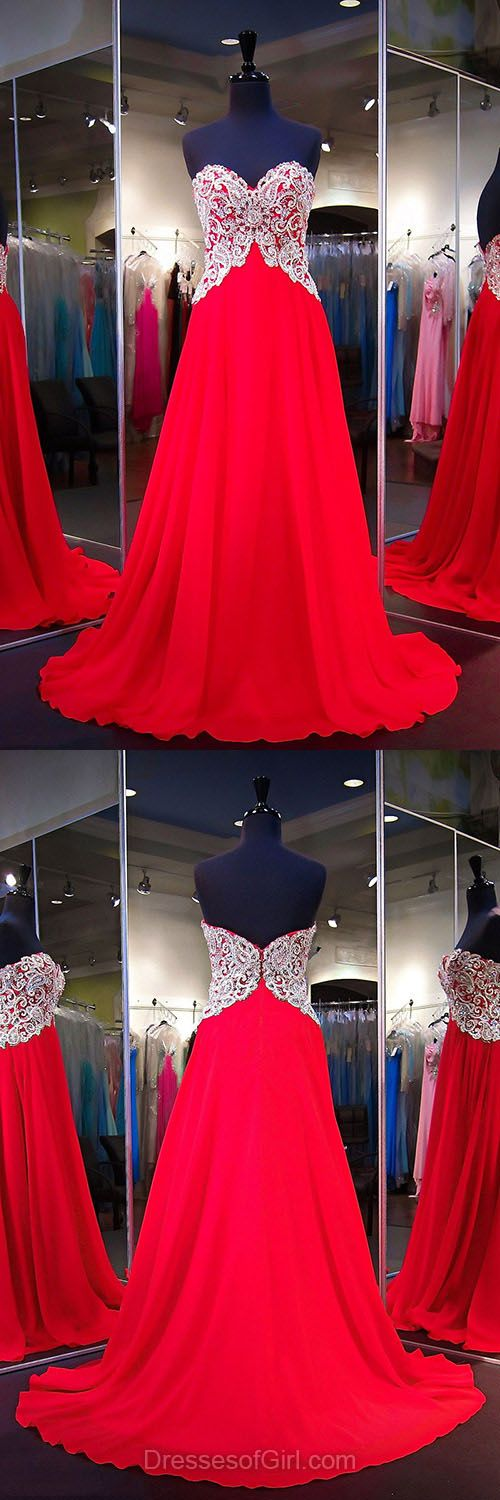 Red Formal Dresses,Beautiful Princess Prom Dresses,Sweetheart Chiffon party Dresses,Unique Long Homecoming Dresses,Sexy Evening Gowns