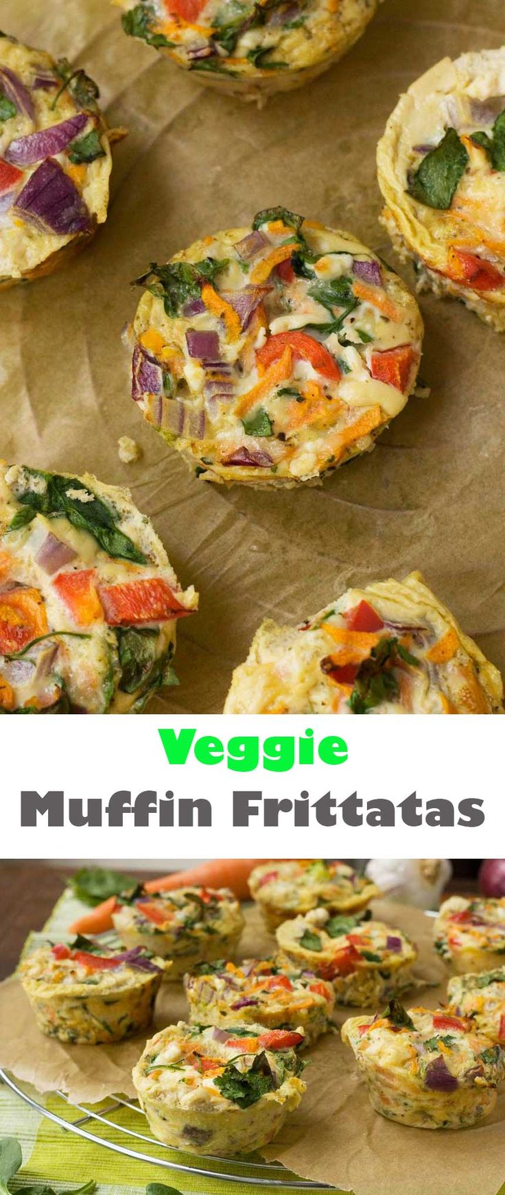 Get healthy with the help of these veggie muffin frittatas - for something a little different at breakfast time!