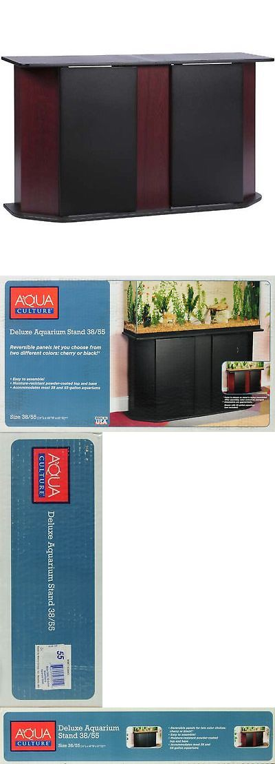 Aquariums and Tanks 20755: Home Aquarium Stand Storage Cabinet For 55 Gallon Aquatic Fish Tanks, Cherry -> BUY IT NOW ONLY: $125.48 on eBay!