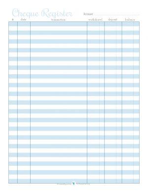 libero registro di controllo stampabile in blu | ScatteredSquirrel.com