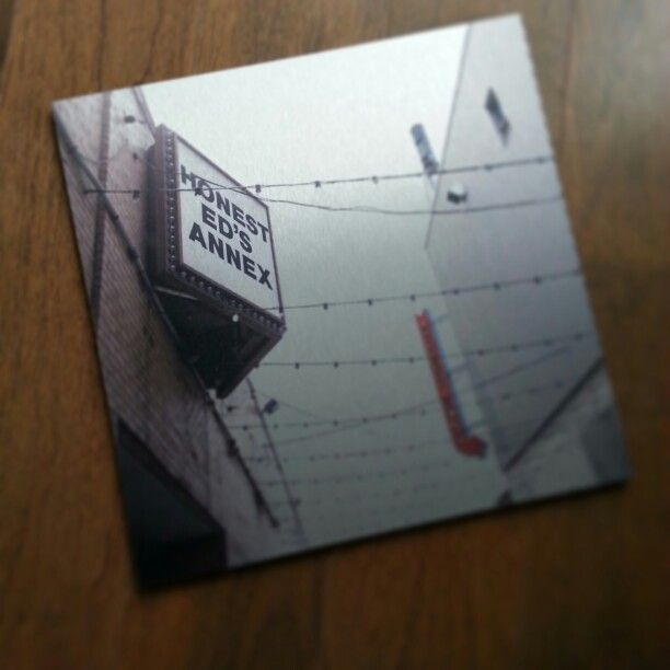 "Honest Ed's Annex 12x12"" print on metal"