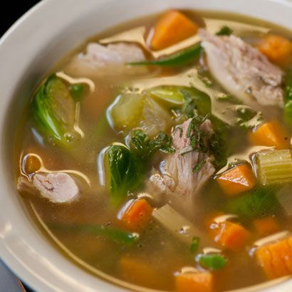 Turn Leftover Turkey Into Turkey Soup: What's one to do with all that leftover turkey?