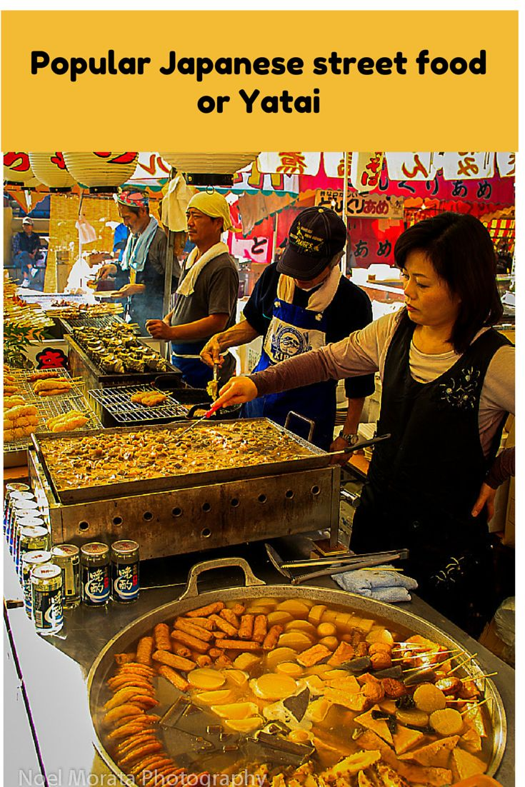 Popular street food or local foods of Japan also known as Yatai