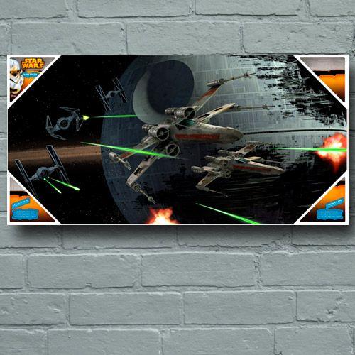 Star Wars - poster en verre Tie Fighter vs X-Wing