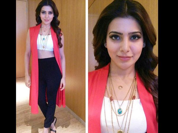 Samantha Goes Chic in Koëcsh. i love the accessories more , neck piece