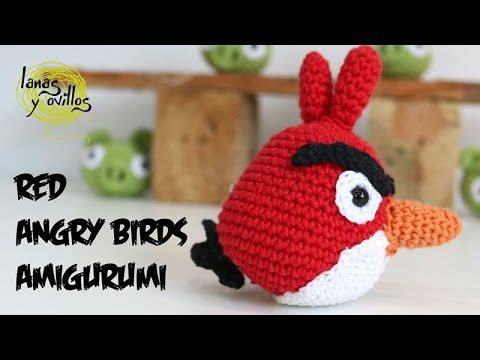 Suscríbete aquí a nuestro canal http://bit.ly/1OuUSw6 Patrón gratis aquí http://bit.ly/1ByzQu7 Tutorial de cómo realizar éste Angry Birds Rojo en Amigurumi P...