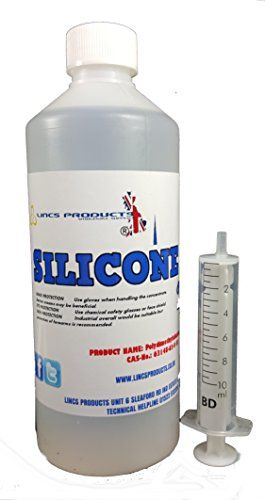 LINCSPRODUCTS® 100% SILICONE OIL FOR TREADMILL LUBRICANT FOR BELTS/ROLLERS 500ml BOTTLE AND SYRINGE