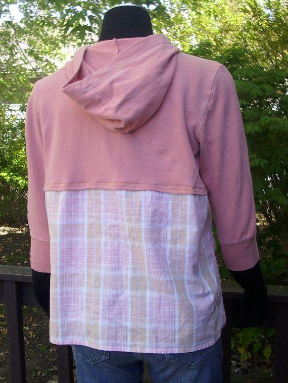 Upcycled Hoodie Aero hoodie Recycled Clothing by TeesDenim on Etsy