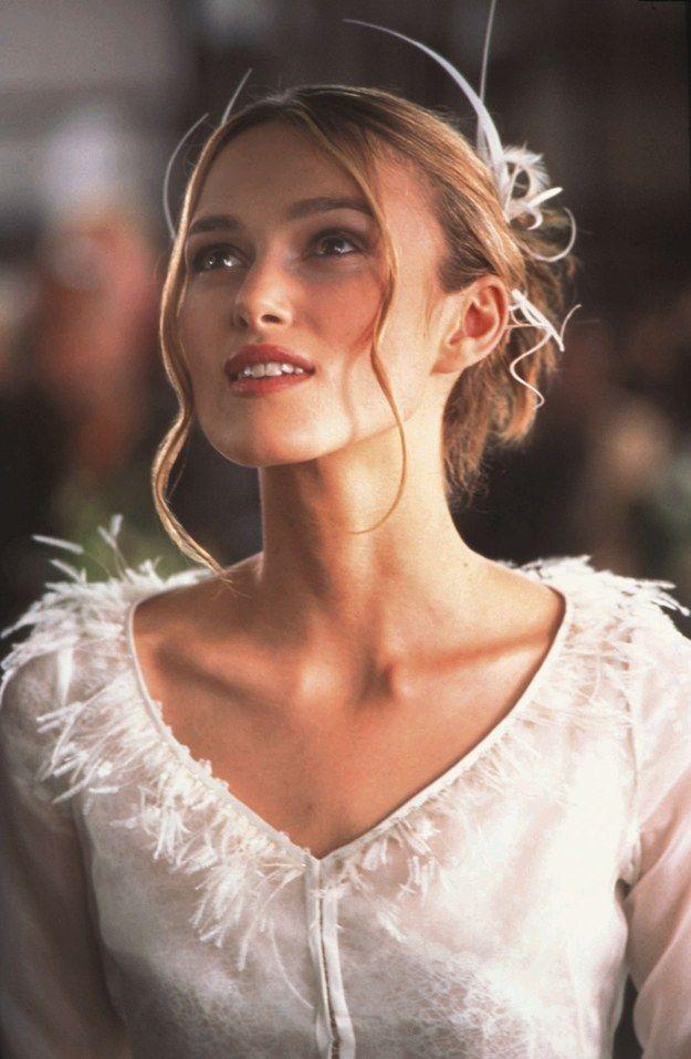 Love Actually (2003) || 48 Of The Most Memorable Wedding Dresses From The Movies - by Kimberley Dadds; REX USA/Snap Stills / Rex || Buzz Feed ... #BridalGown; #KeiraKnightley <3
