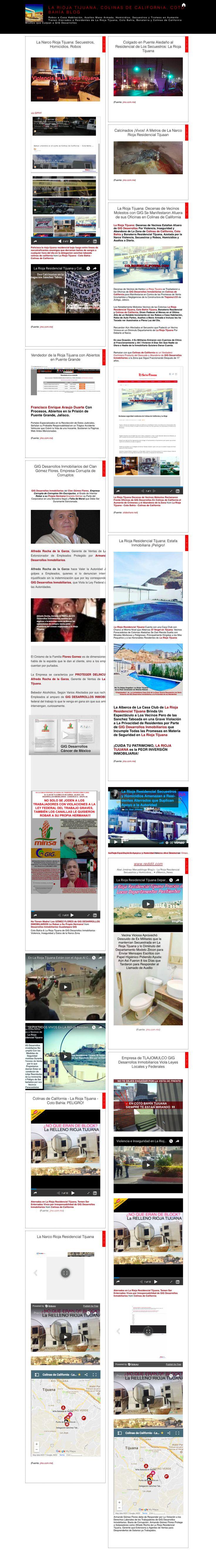 La Rioja Residencial Tijuana: Denuncias de Vecinos Hartos de la Inseguridad, Violencia, Narco, Secuestros, Homicidios y Robos  La Rioja Tijuana y Coto BahíaPadecen laViolencia Despiadada de Narcotráficantesque Disputan el Control de laDelegación Sánchez Taboada, en Donde También se EncuentraColinas de California:  Se Trata de una de las Delegaciones Municipales Más Pobres y Violentas de Baja California, con   Robos a Casa Habitación, Asaltos Mano Armada, Homicidios, Secuestros y…