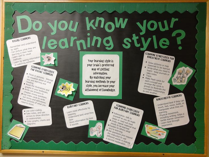Learning Styles Bulletin Board