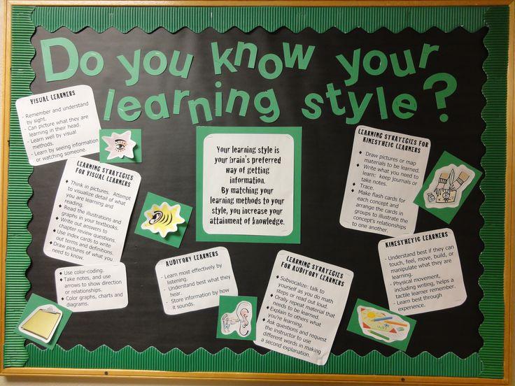 Learning Styles Bulletin Board