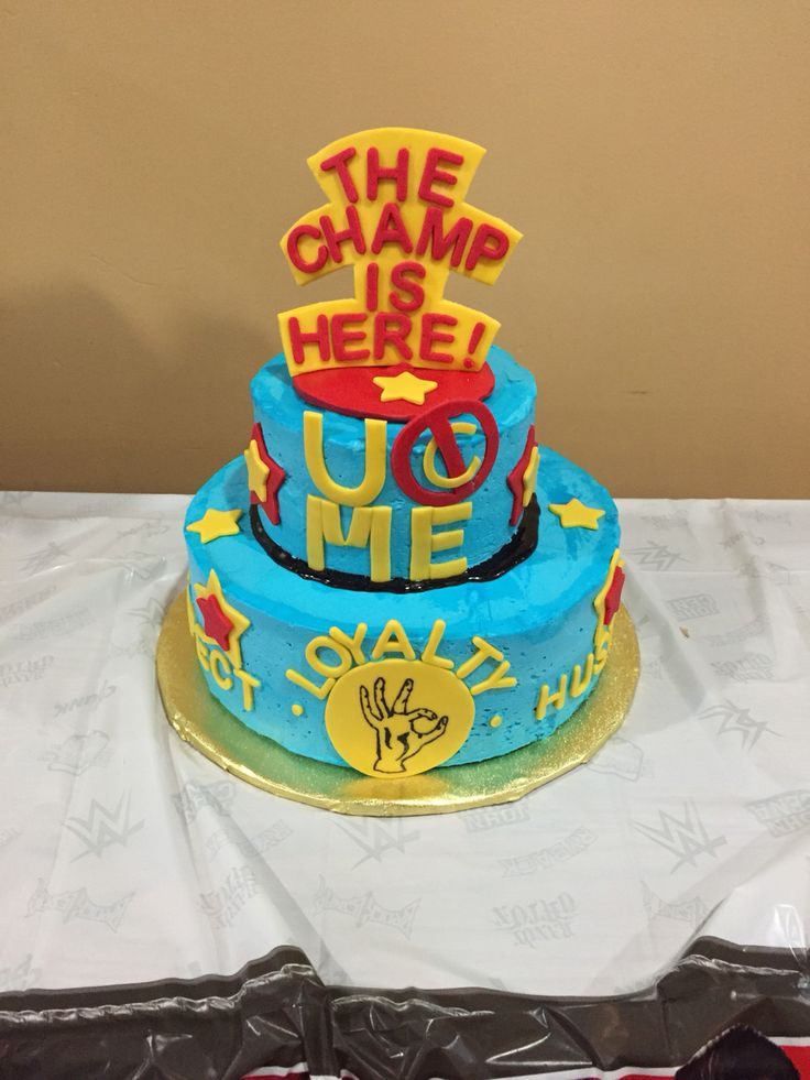 Birthday Cake For John : John Cena birthday cake! My son loved it! Party Ideas ...