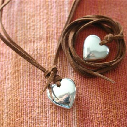 """""""I pass this to you through my art and may you in turn find your way to spread the love."""" Read why this heart necklace is so special…http://bit.ly/1Nvww9x #inspiration #jewellery #handmade"""