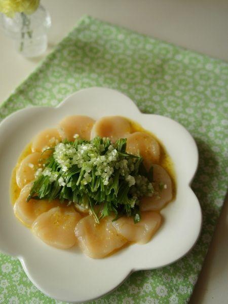 ホタテと水菜の柚子コショウサラダ by midori / レシピサイト「ナディア / Nadia」/プロの料理を無料で検索