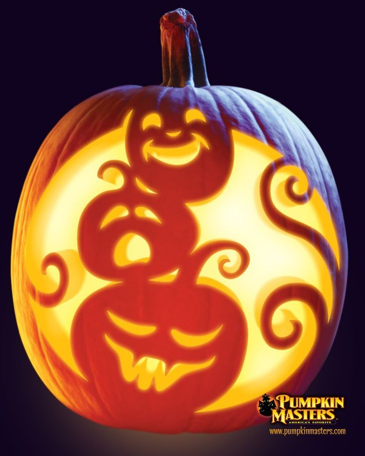 """Stack-o-Lanterns"" pattern from the Pumpkin Masters Pumpkin Carving Kit."