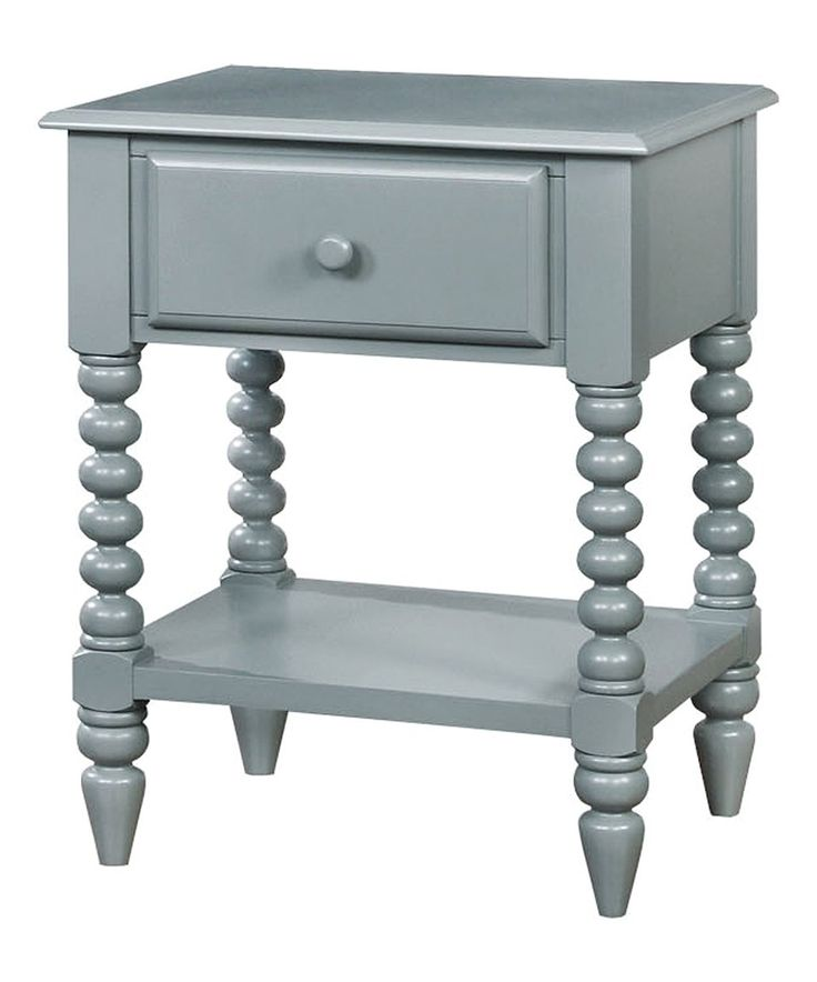 Take a look at this Gray Glinda Transitional Wood Nightstand today!