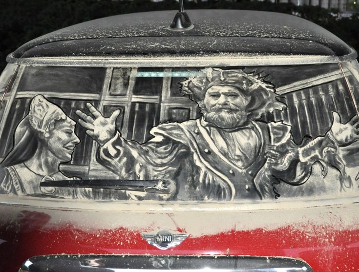Best Dirty Car Window Art Images On Pinterest Window Art L - Scott wade makes wonderful art dusty car windows