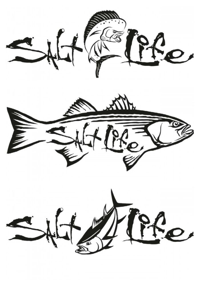 Salt Life Decals...I bought the striper sticker for my hubby