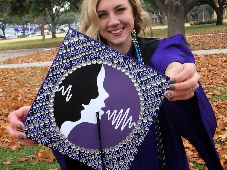 Texas Christian University (TCU) Speech Language Pathology graduation cap