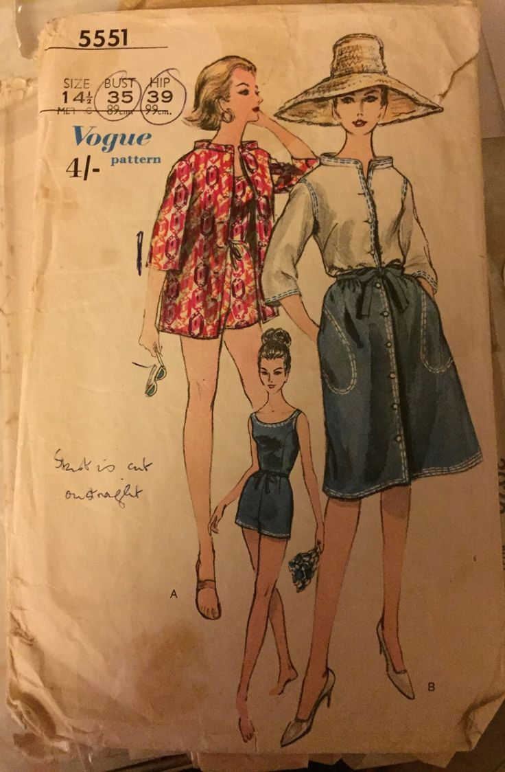 Vintage 1961 Vogue playsuit romper swimsuit and skirt and beach shirt dress making pattern VLV rockabilly di OuterLimitz su Etsy https://www.etsy.com/it/listing/220576812/vintage-1961-vogue-playsuit-romper
