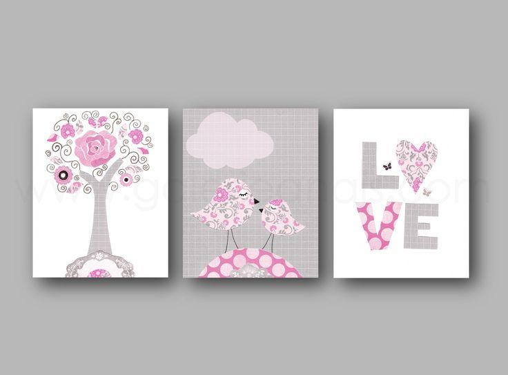 Les 25 meilleures id es de la cat gorie chambre rose et gris sur pinterest chambre gris rose - Chambre gris et bois de rose ...