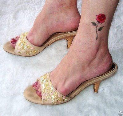 Rose Tattoos For Women | tattoo ideas: Designs Photos: Foot rose tattoo and Australian blues ...